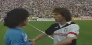 Maradona con Zico